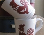 Customized Red Rooster Mug