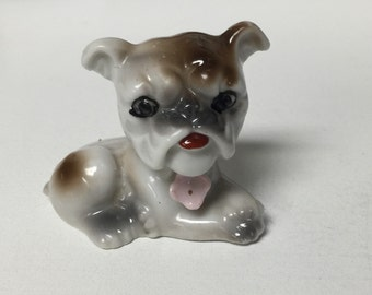 Vintage Bulldog Figurine Searching for a Forever Home
