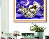 New DIY Home Decoration Handmade Needlework Counted Cross Stitch Embroidery Kit 11CT Baby Tiger Pattern Cross-Stitching