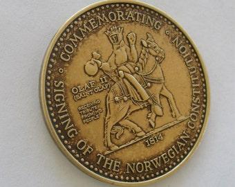 Vintage Coin Stoughton Wisconsin Syttende Mai Norwegian Constitution Day Celebration Medal 1972