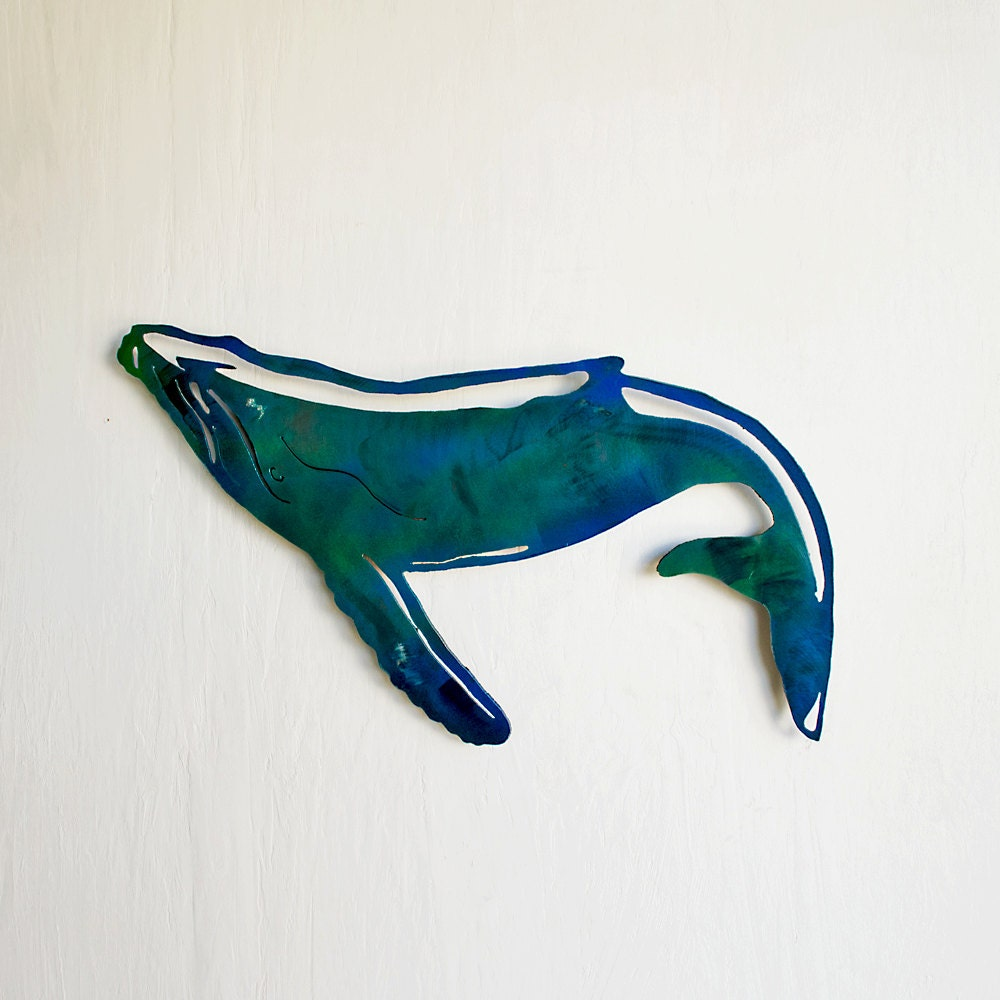 Humpback Whale Wall Hanging Art Wall Hanging Humpback Whale