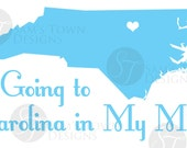 Vinyl Decal 2.5x7 - Going to Carolina In My Mind