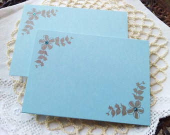 Wedding Event and Party Place Cards Food Buffet Label Tags Blue Glitter Set of 20 LAST SET LEFT