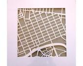 Melbourne paper cut map