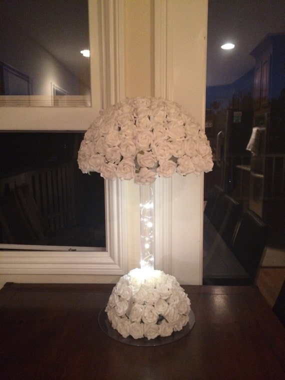 Flower lamp shade wedding centerpiece by babybaharcollection