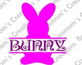 Split Personalized Easter Bunny