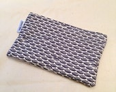 Organic Cotton Snack Bag - Midnight Blue Geometric Design