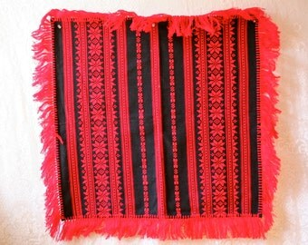 SOLD sold sold Reserved Item Vintage Mexican Woven Folk Tablecloth Throw South American