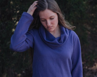 Organic Cotton Fleece Rosette Top Women's Organic Cotton Clothing