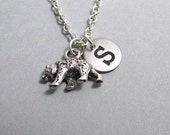 Grizzly Bear Silver Plated Charm jewelry Supplies