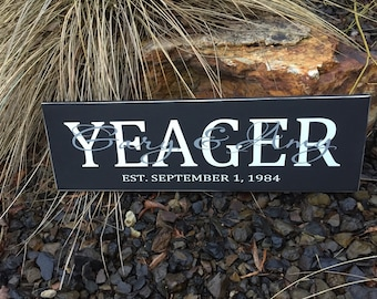 Personalized family sign, family name sign, family sign