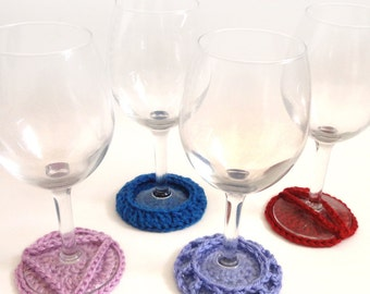 Wine Glass Coasters - PDF Crochet Patterns - Instant Download