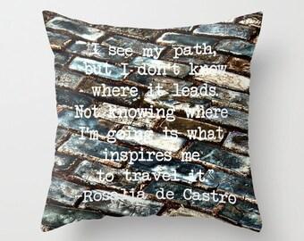 Cobblestone Travel Path Pillow Cover Home Decor Last One 16 x 16 SALE