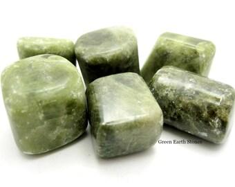 ONE Large Vesuvianite, Idocrase Tumbled Stone, Premium, Feng Shui, Pocket Stone, Metaphysical