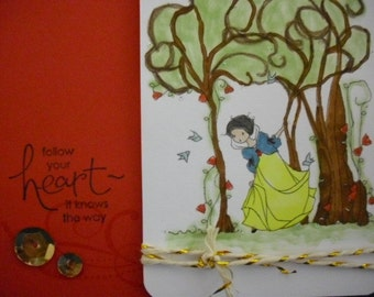 Snow White Inspired Into the Woods Card