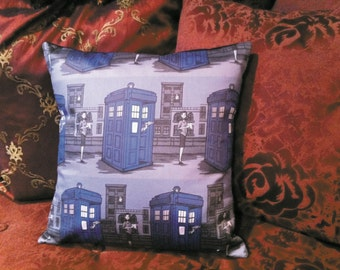 Paper Whovian Fabric Pillow by LauriJon™ Studio City (features Karen Hallion Paper Who fabric)