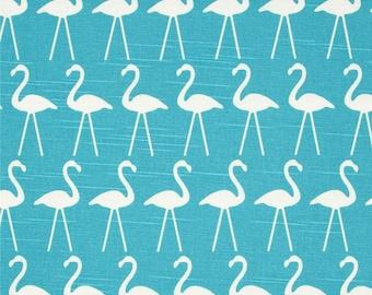 Pair (two 50W panels) designer custom made curtain panels drapes flamingo coastal blue