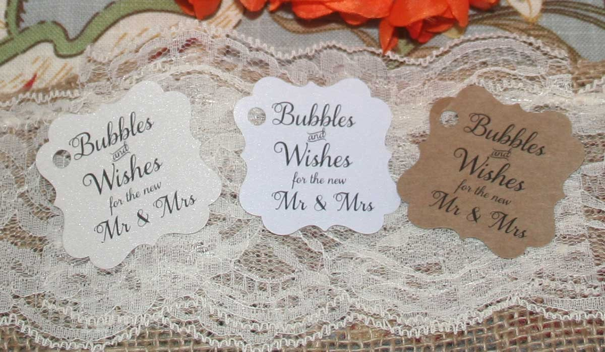 Wedding Bubbles Tags Sayings Quotes