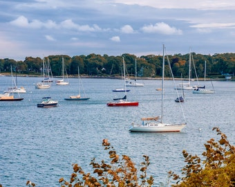 """Shelter Island Photograph - """"Dering Harbor"""" - 11x14 Print, Matted to 16x20 - fits in standard frame"""