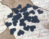Navy Blue Heart Confetti Weddings Showers Table Decor Customized