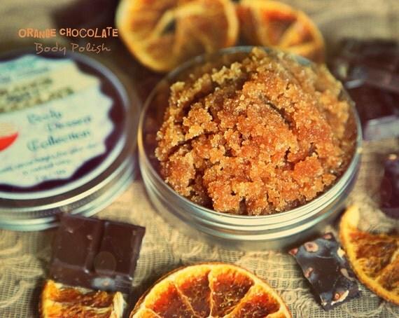 Chocolate Orange Body Polish organic and natural scrub from Body Desserts collection 5 oz