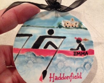 Custom Rowing ornament for your CREW member