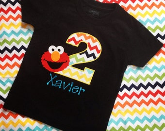 Elmo Birthday Shirt - Elmo Shirt - Personalized