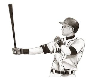 Ichiro Suzuki 11x14 Print