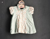 Vintagen 1940s Baby Girls or Doll Dress Handmade Cotton