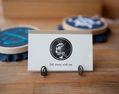 Sail Away With Me - Letterpress Mini Card