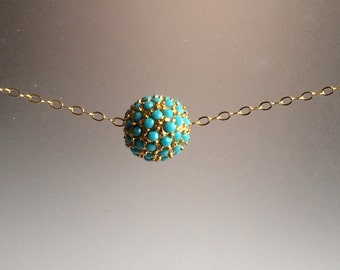 Torquoise Ball Necklace