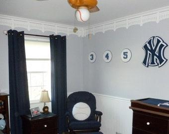 NY Yankee Stadium Stencil, DIY, Baseball Wall Decor, Wall Stencil, Nursery stencil, Man Cave Decor, Home Decor, Instructions included