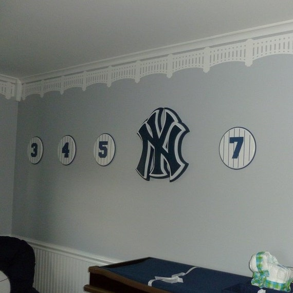 Stencils For Wall Decor : Yankee stadium stencil wall decor baseball baby