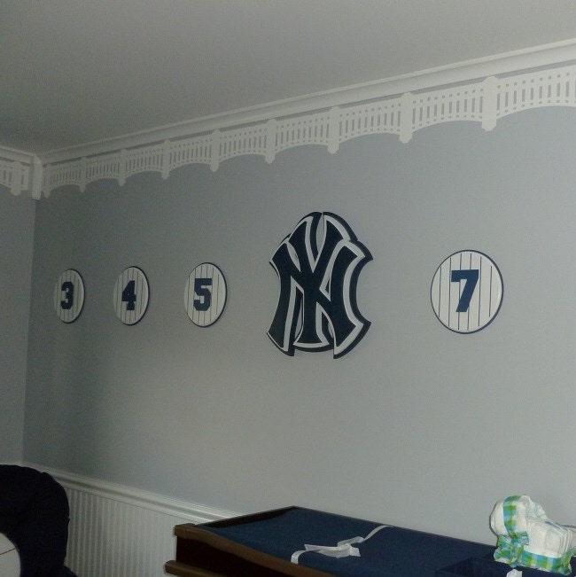 Yankees Man Cave Decor : Ny yankee stadium stencil diy baseball wall decor
