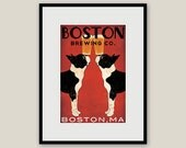 Customize Personalize -- BOSTON Terrier Brewing Co. Beer Framed 10x15 print in 16x21x1 Handcrafted Black Wood Frame