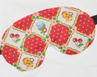 TEACUPS & CHERRIES Five Layer LUXURY Cotton Sleep Eye Mask