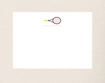 Tennis Note Cards, Personalized