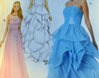 McCalls M7124 Misses Dresses David Tutera fabrics.