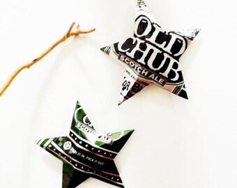 Old Chub, Oskar Blues, Stars, Beer Can, Christmas Ornaments