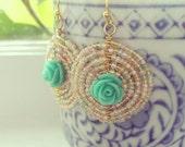 Sweet Rose Mandala Earrings