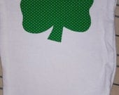 Shamrock Applique Onesie Cute St. Patrick's Day Gift for Baby Boy or Girl