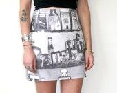 CUSTOM FOR SOPHIE // Gun Club Top + Dress / Rock n Roll Mini Skirt / Rocker Jeffrey Lee Pierce Sz S