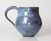 Freckled Blue Stoneware Ceramic Mug