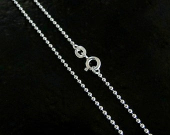 24 Inch - Sterling Silver 1.5mm Ball Chain Necklace
