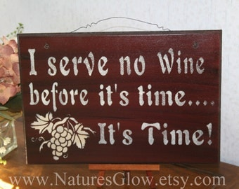Funny Wine Sign - Wine Decor - Funny Kitchen Sign - Wine Drinker Decor - Bar Signage - Wine Lover Sign - Kitchen Wine Sign - Wine Home Decor