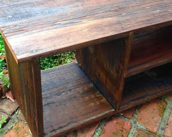 Wood Storage Bench - Furniture - Entryway - Hall - Shoe Storage - Reclaimed Wood - Solid Wood - Rustic Home Decor - Honeystreasures - 36.5