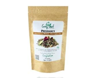 Pregnancy Blend for Pregnant Mommy Artisan Organic Loose Leaf Tea by Cozy Leaf