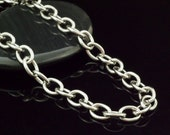 Stainless Steel 7mm Links - 316L - Top Shelf - By the Foot or Finished - Large Oval Cable - Made in the USA