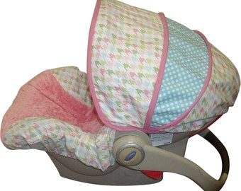 Car Seat Cover Bella Houndstooth Infant- Limited Quantities