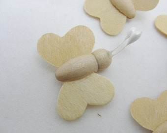 Mini wooden butterfly, mini butterfly, diy butterfly, tiny butterfly, small butterfly set of 6